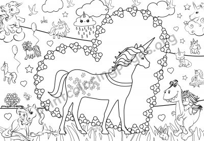giant unicorn coloring page d