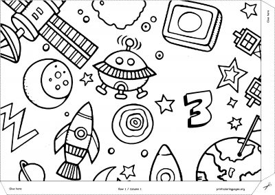 space world giant coloring poster