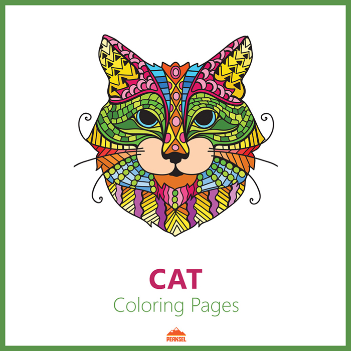 Printable Coloring Book – Cats – Giant Coloring Posters