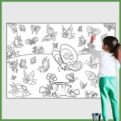 giant coloring poster butterflies 2
