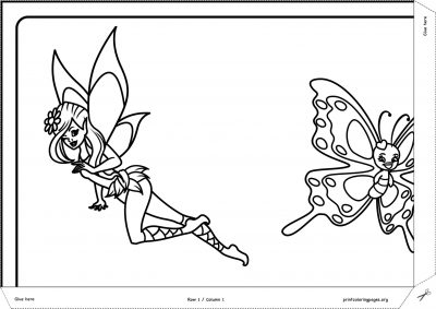 giant coloring poster fairies and flowers 1