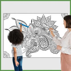 giant coloring poster flower mandala 1