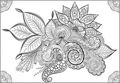 giant coloring poster flower mandala s