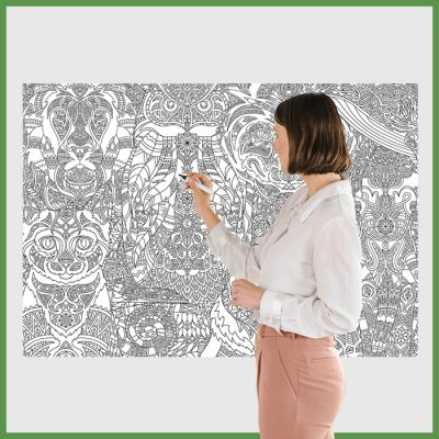 giant coloring poster for adults
