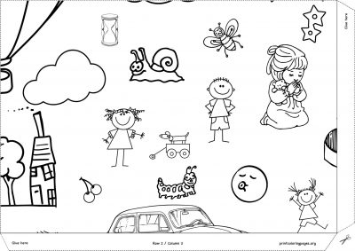 giant coloring poster happy world 1