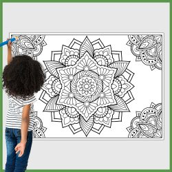 giant coloring poster mandala 1