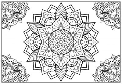 giant coloring poster printable mandala