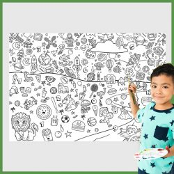 giant coloring poster space world