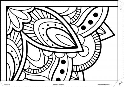 printable giant coloring poster mandala
