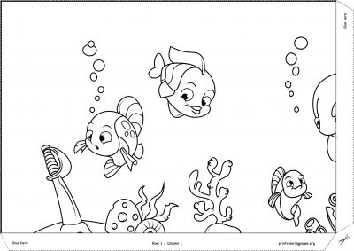 printable giant coloring poster ocean