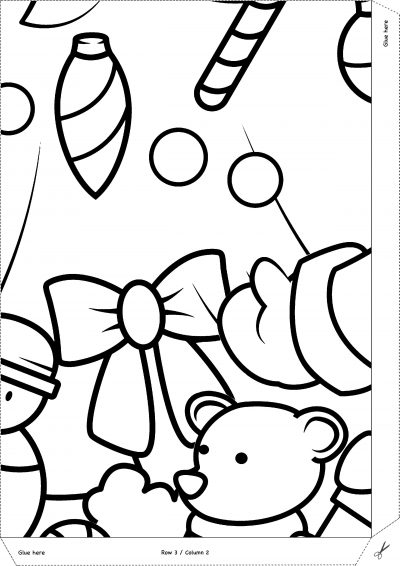 Giant Christmas Tree and Santa Claus Coloring Pages 1